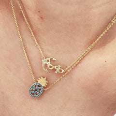 SIDEWAYS ANCHOR -Necklace