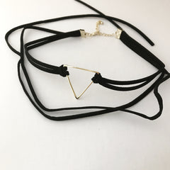 SPRING TRIANCLE CHOKER -Necklace