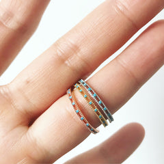 TURQUOISE BAND -Rings
