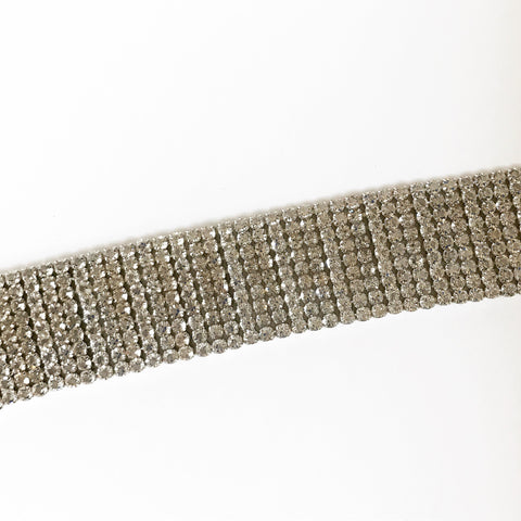 WIDE SPARKLE BAND CHOKER -Necklace