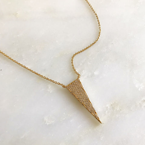 PAVE TRIANGLE -Necklace
