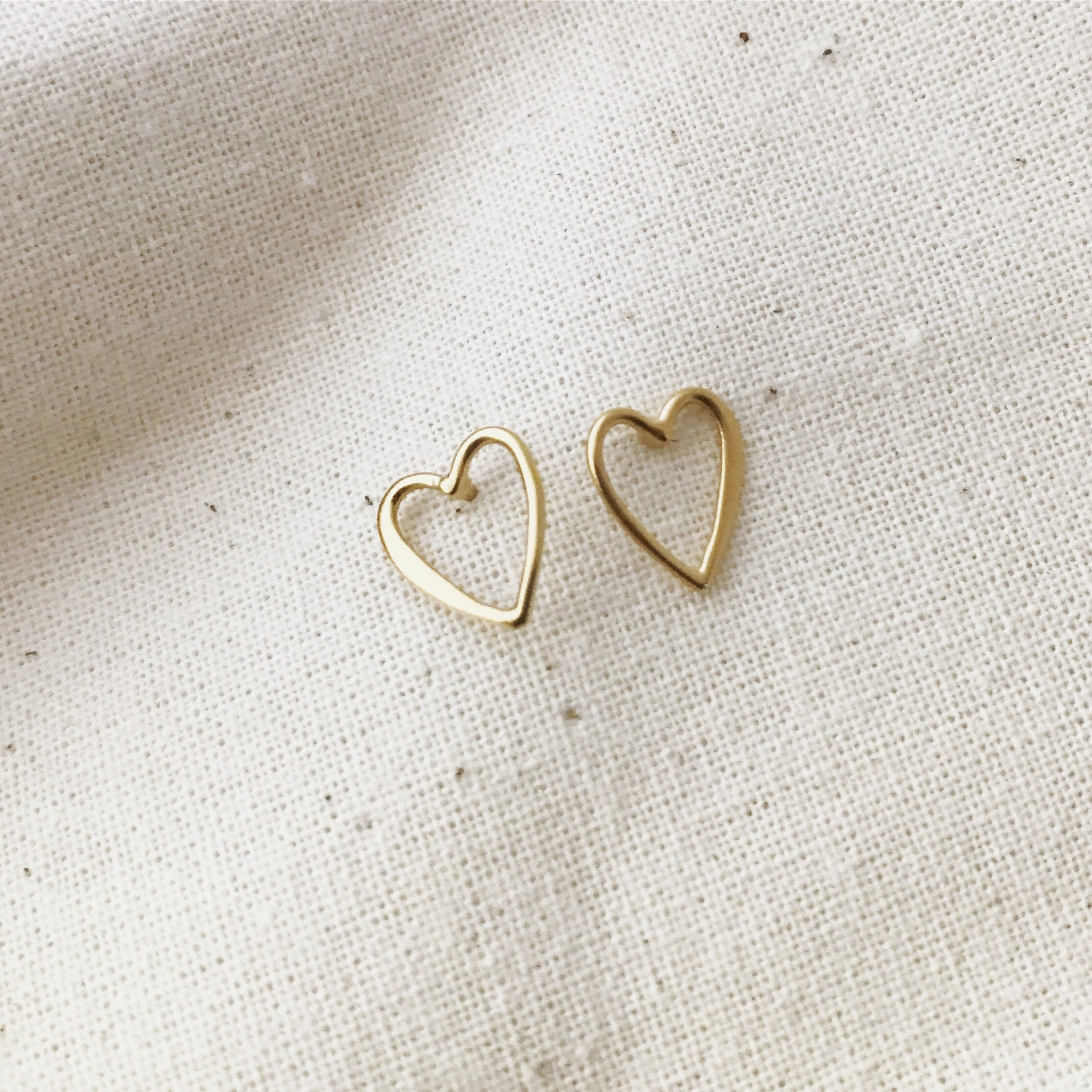 GOLD HEART - Earrings