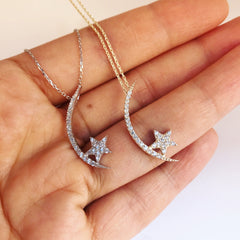 PAVE MOON & STAR -Necklaces