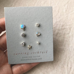 TINY MIX & MATCH EARRINGS SET - Earrings