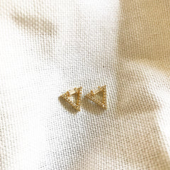 PAVE TRIANGLE - Earrings