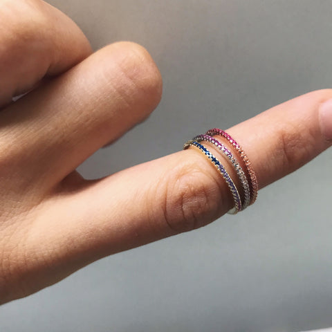 THIN MIX COLORS BAND -Rings