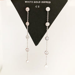 CRYSTAL CHAIN - Earrings