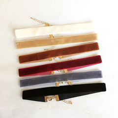 "5/8"" VELVET CHOKER SET - Necklace"