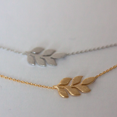 OLIVE LEAF - Necklace