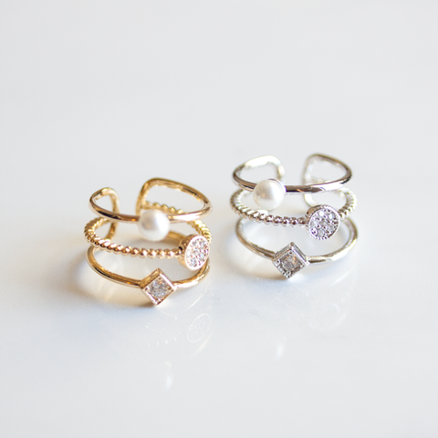 FEMININE STACK KNUCKLE - RING