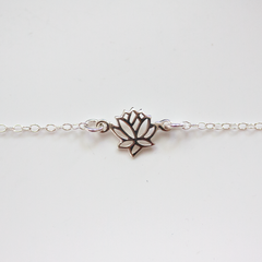SILVER LOTUS - Anklet