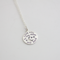 SILVER LOVE YOU TO THE MOON - NECKLACE