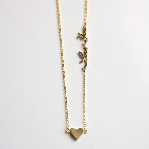 LOVE YOU & HEART -NECKLACE
