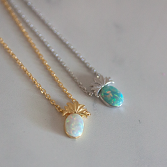 TINY OPAL PINEAPPLE - Necklace