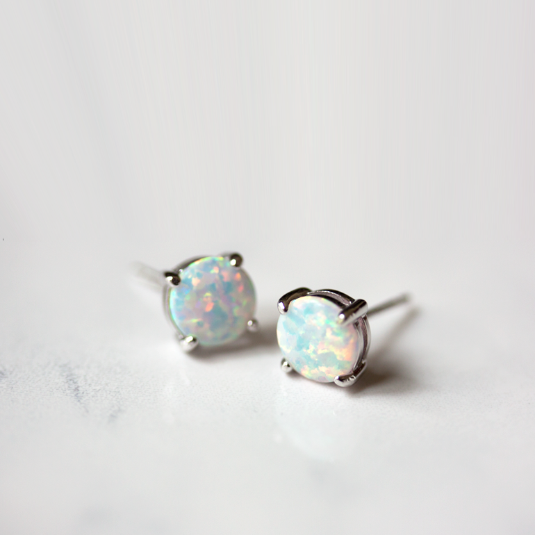 OPAL SILVER - Earrings
