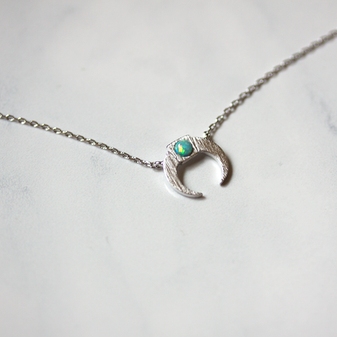 OPAL DOUBLEHORN - Necklace