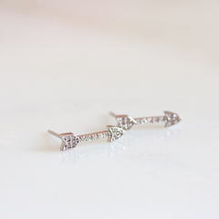 PAVE ARROW - Earrings