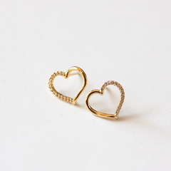 PAVE HEART- Earrings