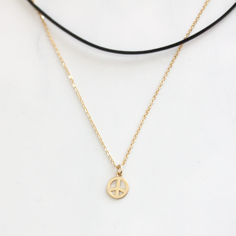 PEACE CHOKER -Necklace