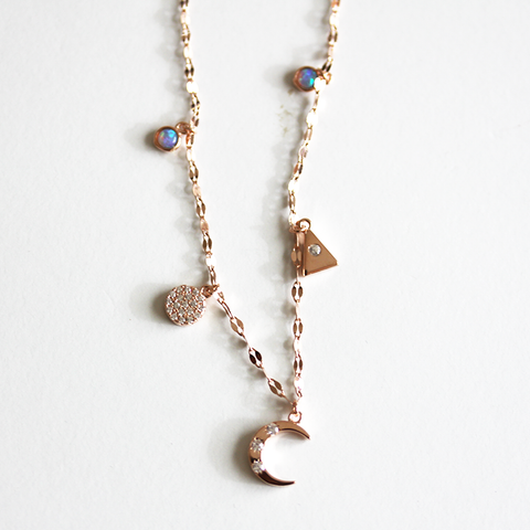 MIXED CHARM -Necklace