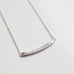 SQUARE BAR -NECKLACE