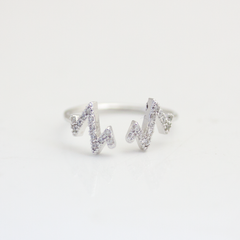 CRYSTAL OPEN HEARTBEAT- RING