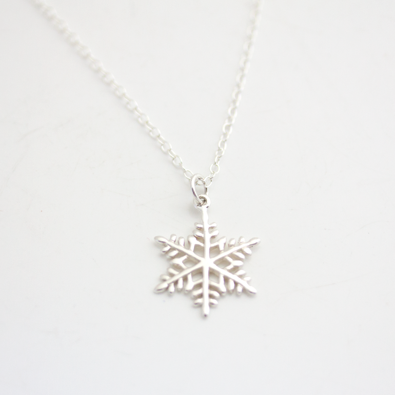 by plated christmas toes silver gifts triple jewellery sandy necklaces snowflake necklace charms detail joma categories product