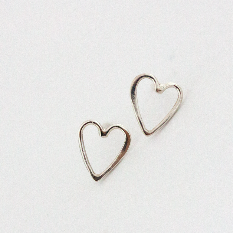 SILVER HEART - Earrings