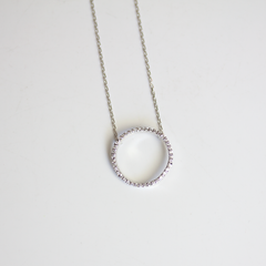 PAVE CIRCLE - Necklace
