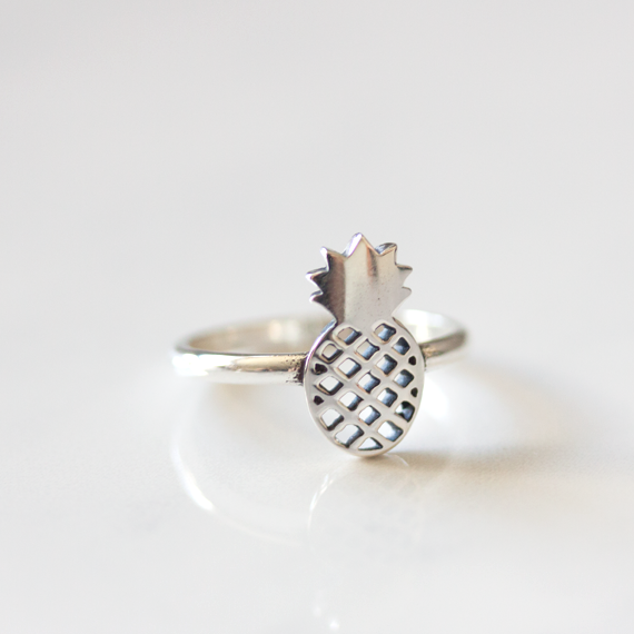 silver pineapple ring beuniki