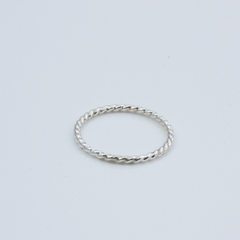 SILVER ROPE - RING