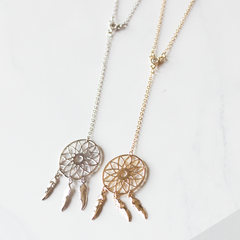 LONG DREAM-CATCHER- Necklace