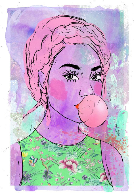 blow mixed media illustration by tatiana poblah