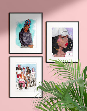 feminist-art-print-displayed-in-a-frame-by-tatiana-poblah