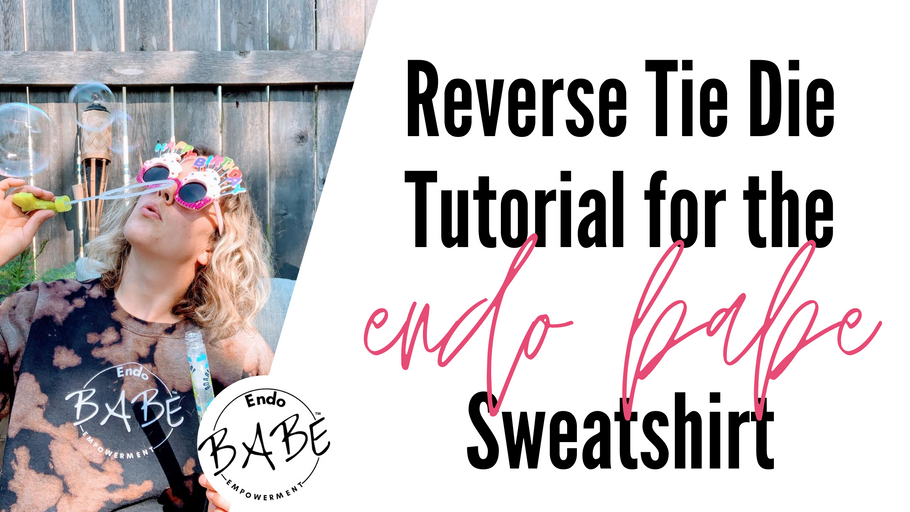 Reverse Tie Dye w Bleach Tutorial for the Endo Babe Sweatshirt
