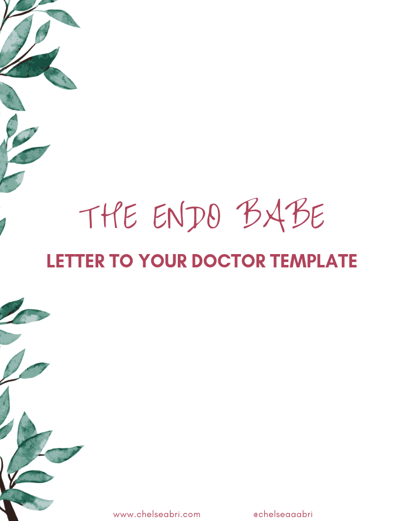 Free Letter To Your Doctor Template