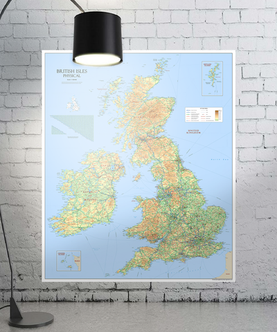 Giant British Isles Map - (150 x 180 cm / 1.5 x 1.8 m)