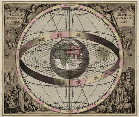 Antique Celestial Map by Andreas Cellarius - 1660