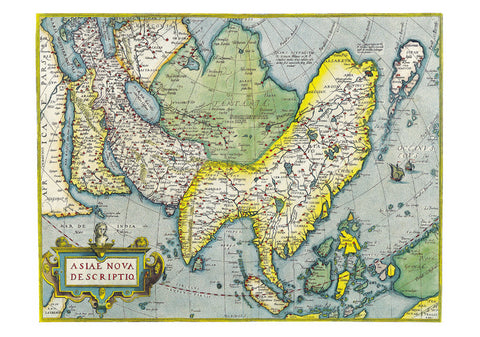 1570 Map of Asia by Abraham Ortelius