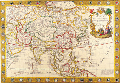 1732 Map of Asia by Guillaume Danet