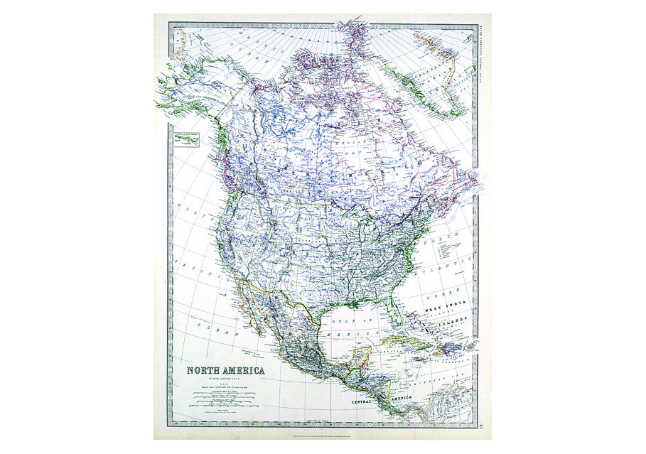 Map Of America In 1861.1861 Map Of North America By Keith Johnston I Love Maps