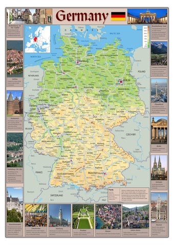 Illustrated Map of Germany