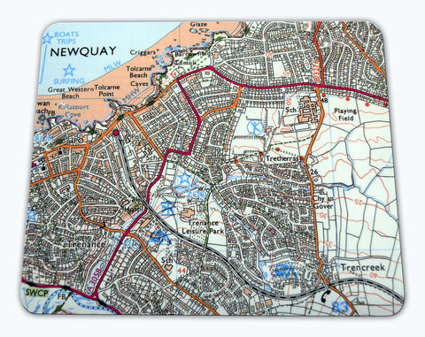 Placemat - Ordnance Survey 1:25,000 Map Centred On Your Postcode