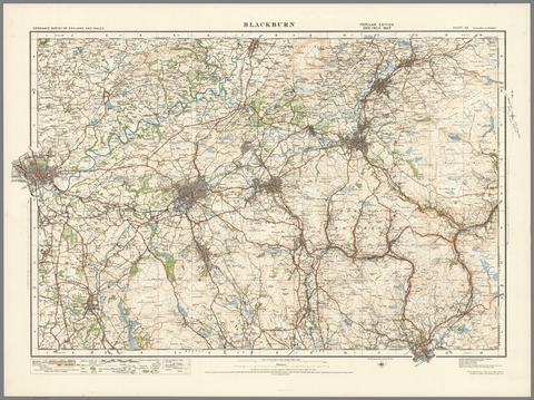 Blackburn - Ordnance Survey of England and Wales 1920 Series