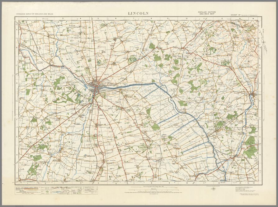 Lincoln Ordnance Survey Of England And Wales 1920 Series I Love Maps