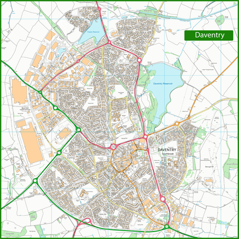 Daventry Street Map