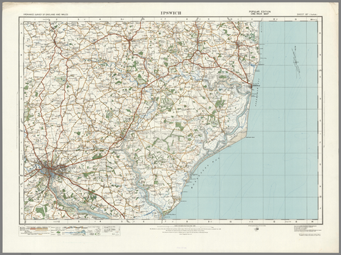 Ipswich - Ordnance Survey of England and Wales 1920 Series