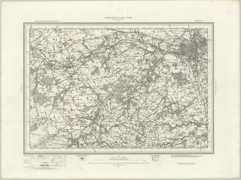 Newcastle upon Tyne (Morpeth) OS Map