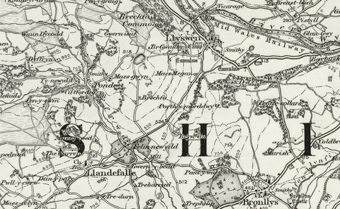 Talgarth (Hay) OS Map
