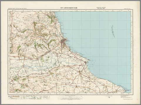 Scarborough - Ordnance Survey of England and Wales 1920 Series